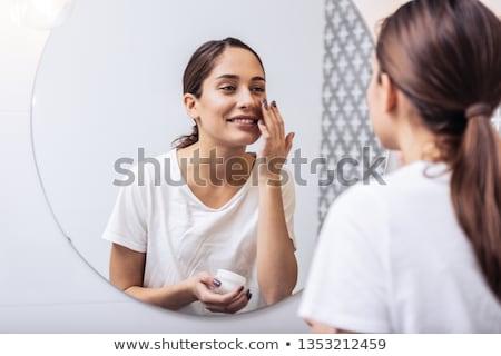 若い女性 髪 ポニーテール 長い ブルネット ストックフォト © Giulio_Fornasar