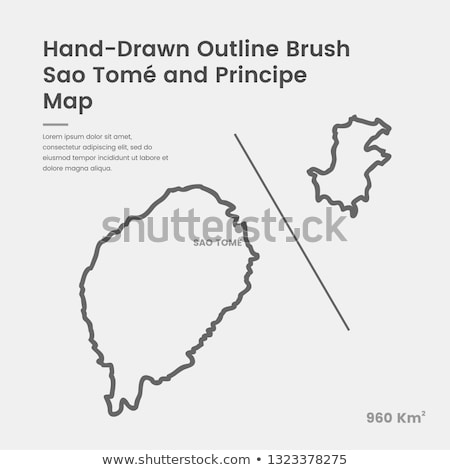 Sao Tome and Principe flag and hand on white background. Vector illustration Stock photo © butenkow