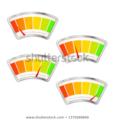 Performance measurement indicator with different value zones isolated on white Stock photo © evgeny89