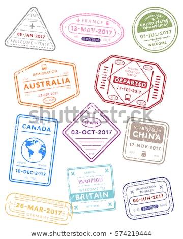 Szett nemzetközi utazás VISA bélyegek izolált Stock fotó © evgeny89