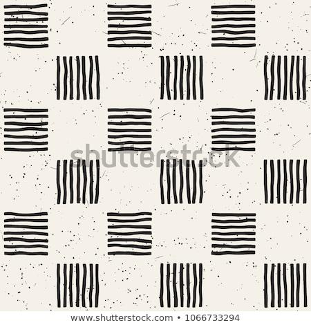 Hand gezeichnet Wiederholung Muster Zeilen Kacheln Stock foto © samolevsky