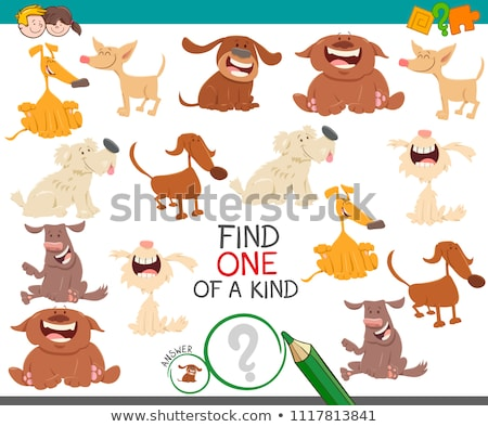 one of a kind game for children with dogs and puppies Stock photo © izakowski