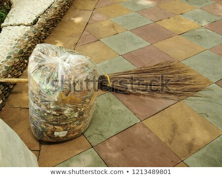 Bag Filled with Garbage Plastic Package Isolated Stock photo © robuart