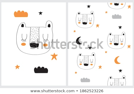Wolk maan star dromerig patronen ingesteld Stockfoto © SArts