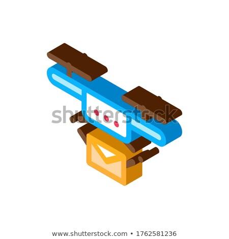 Mail livraison transport société isométrique icône Photo stock © pikepicture