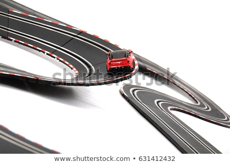 Stock photo: slot car track