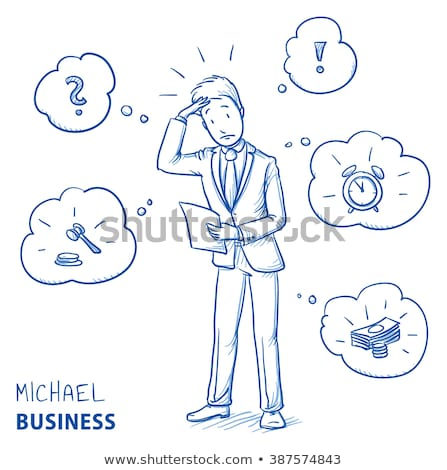 paper man with news bubble stock photo © kbuntu
