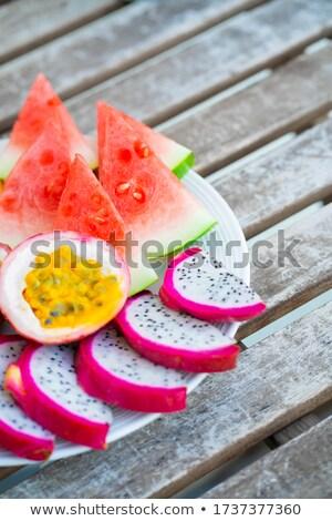 свежие красный арбуза завтрак сочный Cut Сток-фото © klsbear