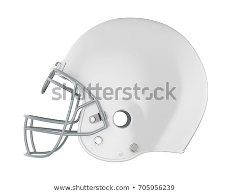 Football Helmet on white Stock photo © m_pavlov