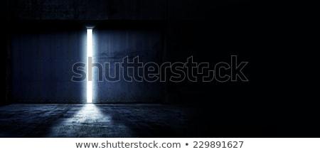 Porte espace de copie couvert cuir blanche Photo stock © Rebirth3d