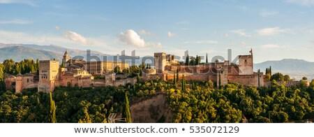 подробность укрепление Альгамбра цвета архитектура башни Сток-фото © aladin66