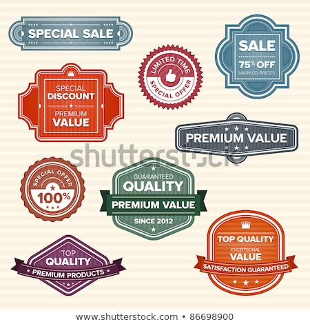 Vintage retro labels in various colors Stock photo © mikemcd