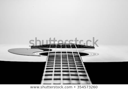 Guitar Acoustic Body Close Up stock photo © mkm3