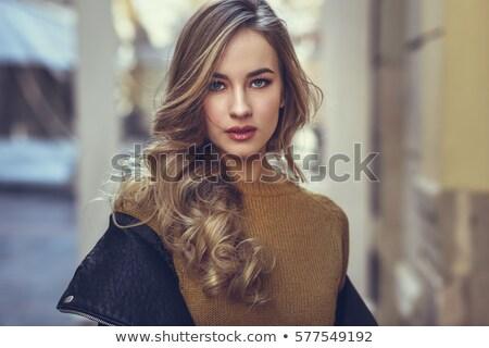 fiatal · csinos · nő · mini · fekete · ruha · izolált · fehér - stock fotó © fotoduki