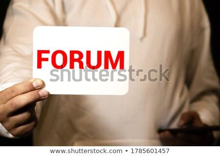 Escrita fórum branco giz lousa Foto stock © latent