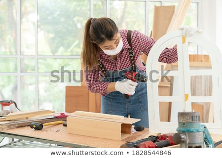handywoman with drill stock photo © photography33