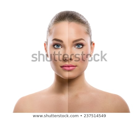 beautiful young woman tanning in solarium stock photo © dotshock