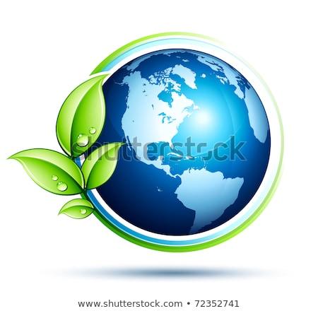 újrahasznosítás · szimbólum · fényes · ikon · kék · izolált - stock fotó © hasloo