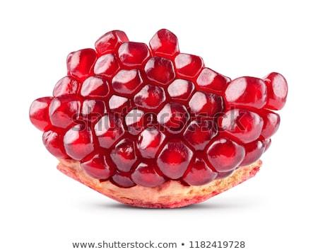 Melograno semi primo piano bianco rosso fresche Foto d'archivio © fogen