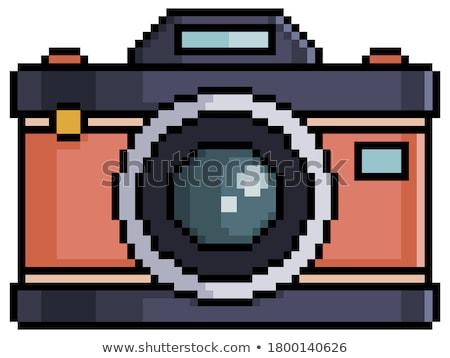 Velho retro foto câmera isolado branco Foto stock © konturvid