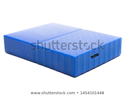 Stock photo: Portable Harddisk With USB cable