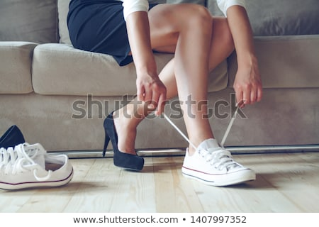 Concept of comfortable and uncomfortable footwear  Stock photo © Elisanth