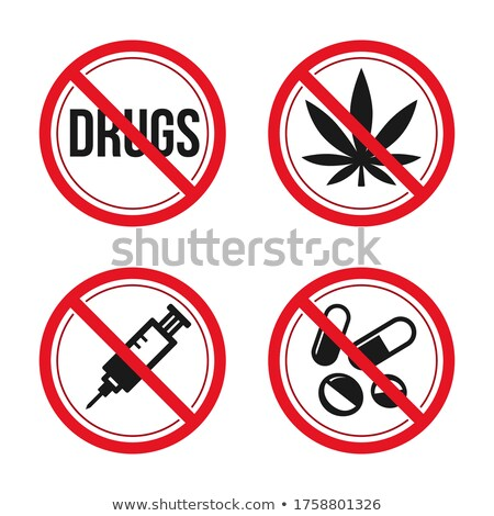 Set prohibited signs - drugs Stock photo © Ecelop