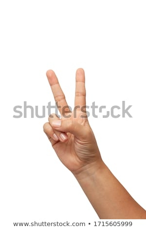 Hand with two fingers up stock photo © oly5