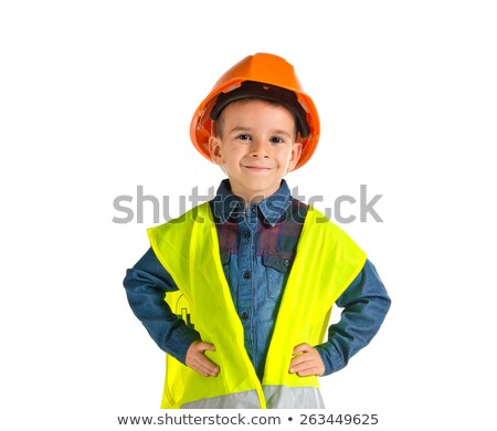 young boy dressed as a construction worker stock photo © photography33