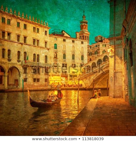 grunge · kanal · panoramik · gibi · kartpostal · Bina - stok fotoğraf © cla78