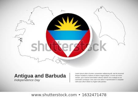 Stock photo: Grunge Antigua and Barbuda flag