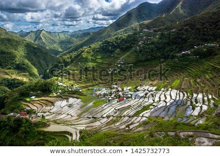 Village in Cordillera mountains Stock photo © joyr