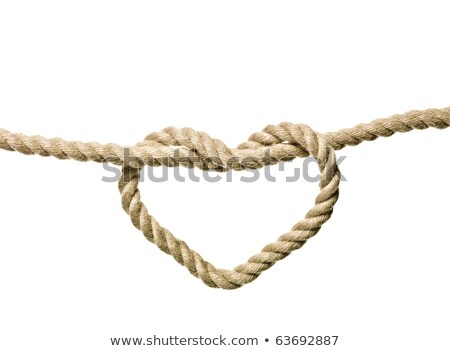 Rope in the shape of heart Stock photo © Witthaya
