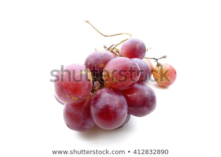 Fresh bunch of red wine on a white background Stock photo © ozaiachin