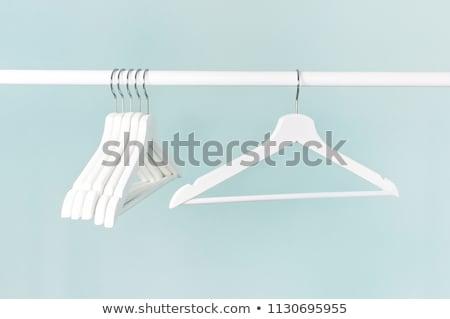 blue metal hanger stock photo © devon