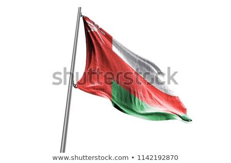политический флаг Оман Мир стране Сток-фото © perysty