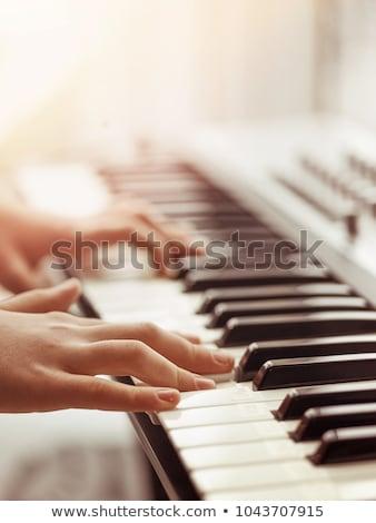 Piano keyboard close-up Stock photo © ozaiachin