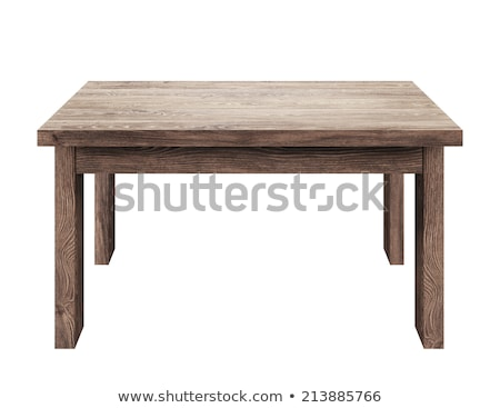 Wooden table isolated on the white background. Stock photo © ozaiachin