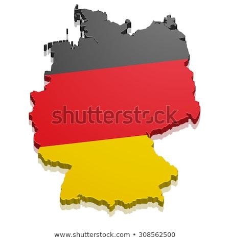 German map with flag Stock photo © marinini