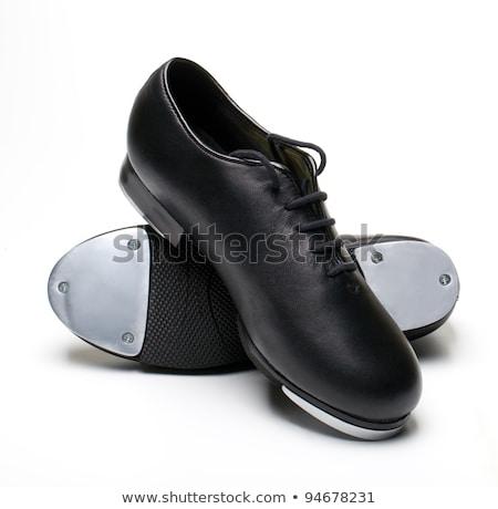 Coppia nero toccare scarpe guardando Foto d'archivio © pixelsnap