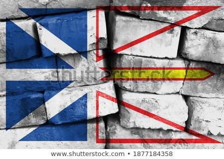 Banderą nowa fundlandia murem malowany grunge tekstury Zdjęcia stock © creisinger