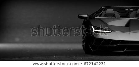 preto · elegante · carro · vermelho · tapete · flash - foto stock © kitch