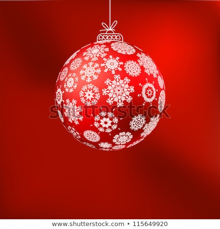 ?hristmas background with baubles. EPS 8 Stock photo © beholdereye
