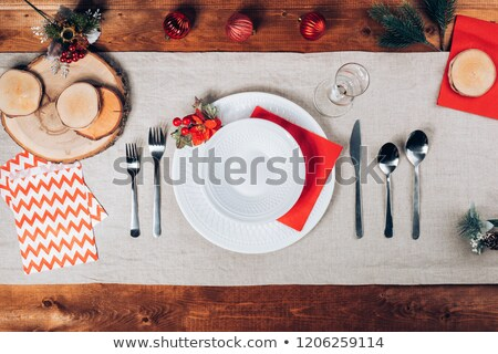 Decorative holiday plate whith ornament Stock photo © Sandralise