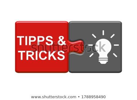 informations · puzzle · aider · soutien · directives - photo stock © stuartmiles