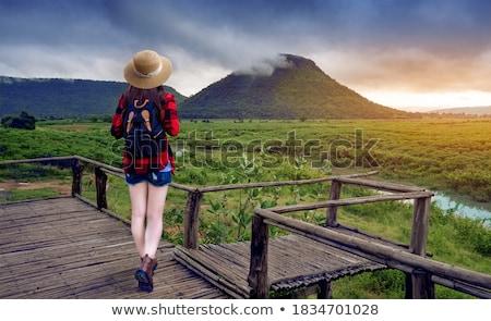 green thongs girl in water Stock photo © dolgachov