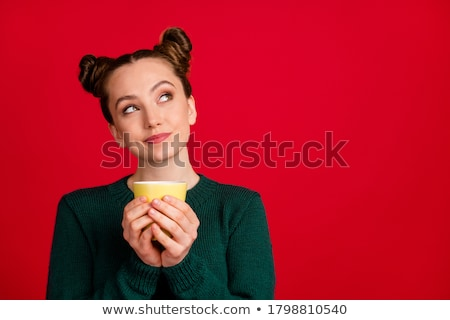 Cheery red-haired young woman Stock photo © acidgrey