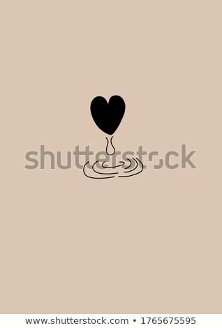 Coração pranto 3D vermelho choro textura Foto stock © ankarb