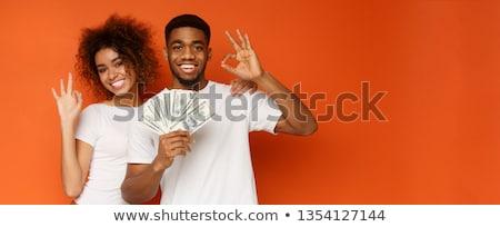 Vrouw fan verbergen achter meisje vrouwen Stockfoto © jayfish