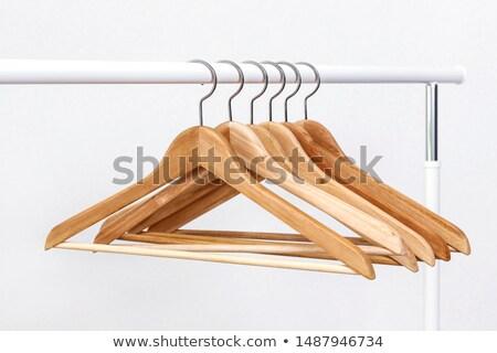 wooden hanger set stock photo © ozaiachin